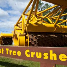 Worlds' Largest Tree Crusher